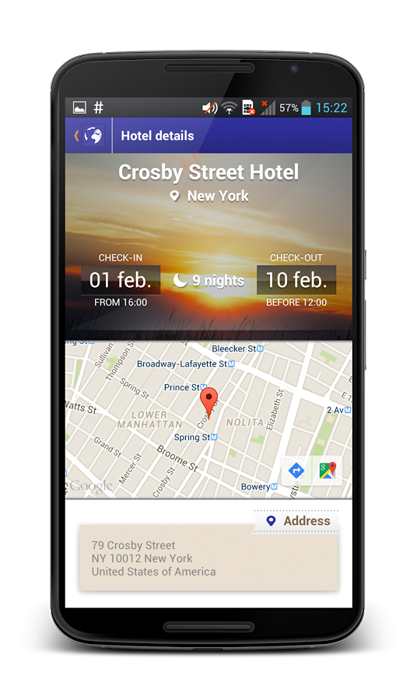 GTM App Android Screenshot Hotel Map