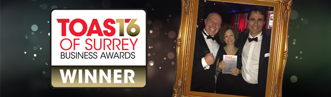 GTM Winners Toast of Surrey Business Awards 2016
