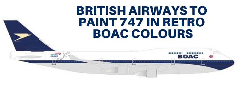 BRITISH AIRWAYS TO PAINT AIRCRAFT