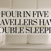 Four in five travellers have trouble sleeping